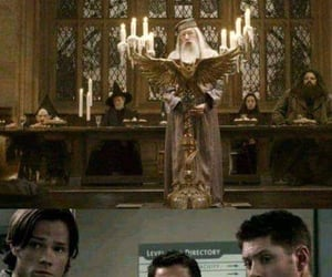 dumbledore, angels, and dean winchester image