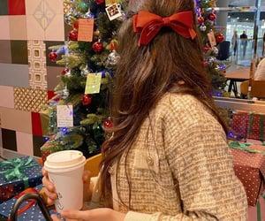girl, new year, and merry christmas image