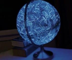 aesthetic, blue, and globe image