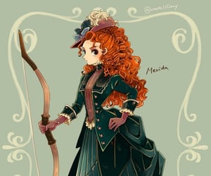 brave, disney, and princess image