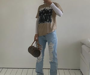 streetwear, everyday look, and louis vuitton bag image