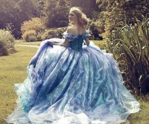 dress, princess, and blue image