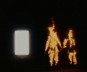 fire, light, and tainy image