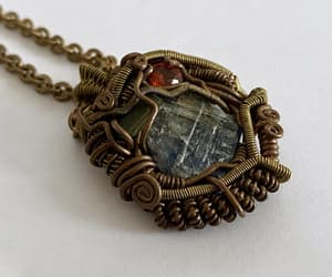 abstract design, pendant necklace, and kyanite image