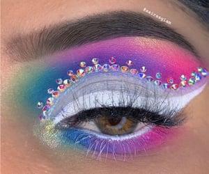 colourful, rhinestone, and eyemakeup image