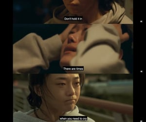 fighter, kdrama, and sad quotes image