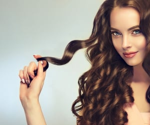 layered hair, bounce, and ombre hair image