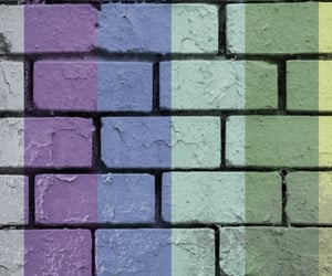 art, bricks, and purple image