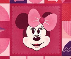 disney, background, and minnie mouse image