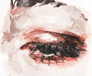 aesthetic, eyes, and painting image