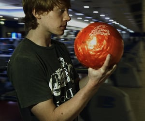 rupert grint, bowling, and ron weasley image