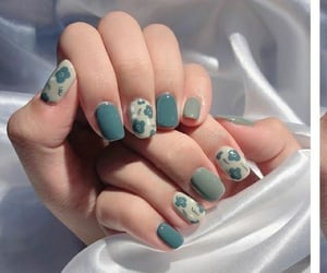 azul, fashion, and flores image