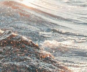 wallpaper, ocean, and water image