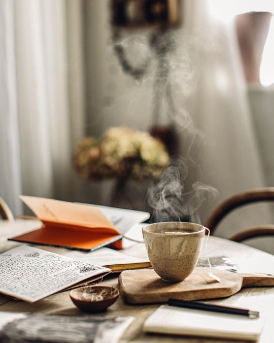 morning and tea image