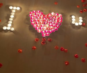 candles, cozy, and heart image