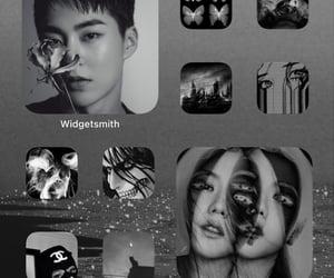 exo, jisoo, and black aesthetic image