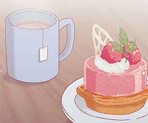 food, anime, and cake image