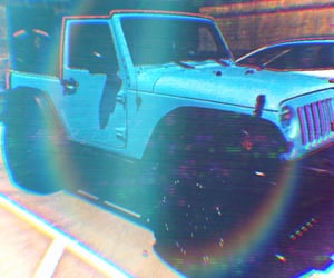 blue, jeep, and edits image