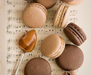 food, music, and sweet image