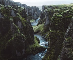 forest, iceland, and mountains image