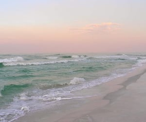 beach, landscapes, and ocean image