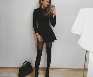 girl, sexy, and dress image