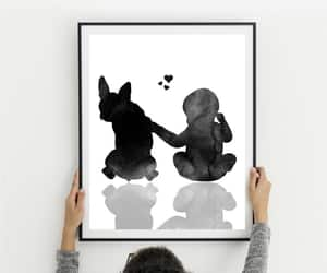 boston terrier, mothers day gift, and baby art print image