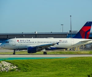 delta airlines, flight ticket, and flight cancellation image