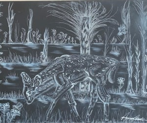 animals, art, and bambi image