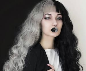 alt girl, colored hair, and hairstyle image