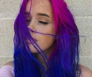 colored hair, purple hair, and dyed hair image