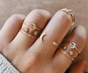 fingers, rings, and star image