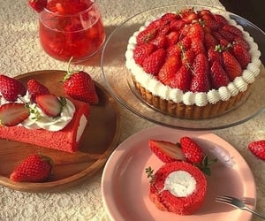 food, strawberry, and aesthetic image