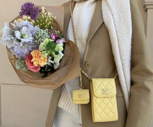 bouquet, chanel, and chanel bag image
