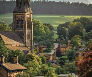 church, countryside, and derbyshire image