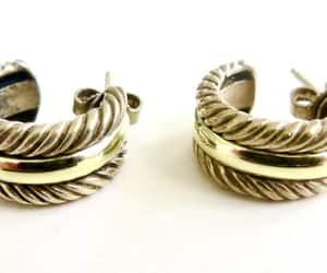 David Yurman, hoop earrings, and pierced earrings image