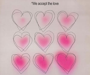 aesthetic, hearts, and quote image