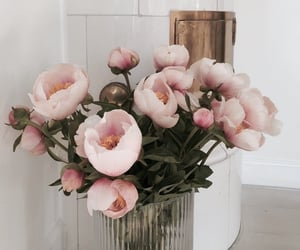 flowers, pink, and decor image