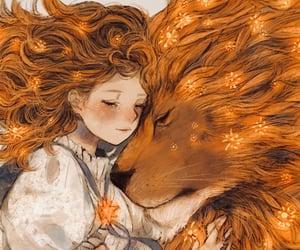 lion, animal, and anime image