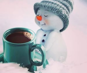 coffee, cozy, and snowman image