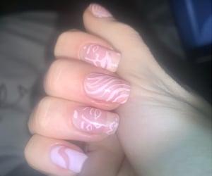 baby pink, nails, and pink image