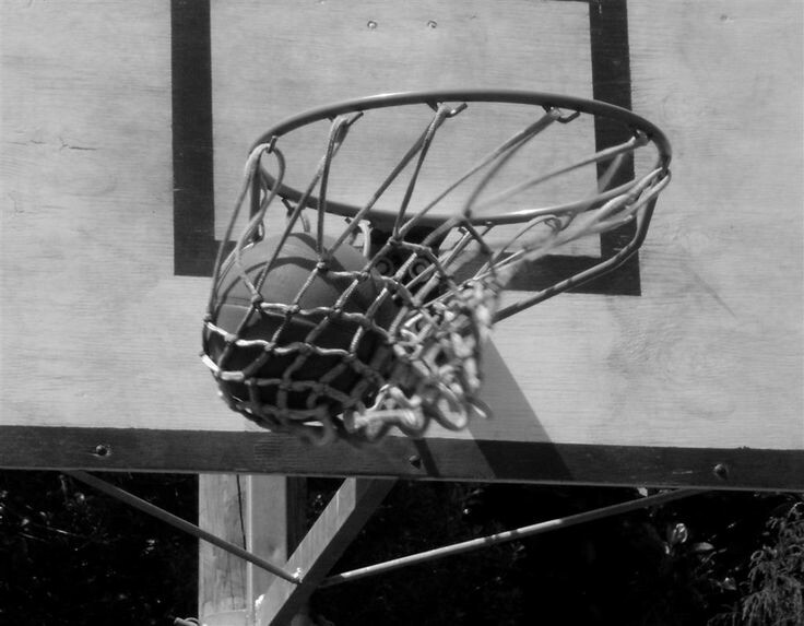 Basketball, black and white, and sports image