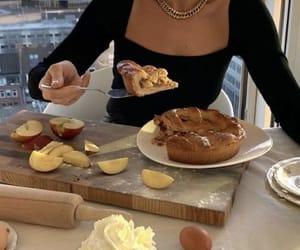 apple, food, and girl image