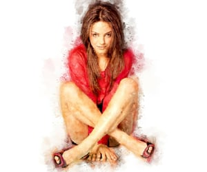 splashes, watercolor, and milakunis image