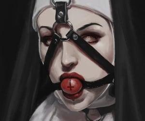 nun, satanic, and gag ball image