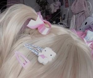 hello kitty, hair, and kawaii image