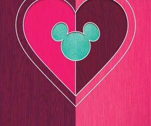 background, disney, and Valentine's Day image
