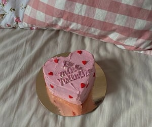 cake, couple, and pink image