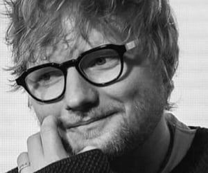 artist, ed sheeran, and black and white image