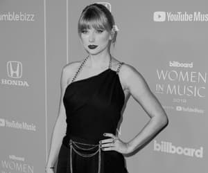 black and white and Taylor Swift image